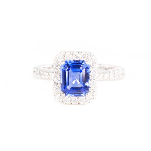 Anello Royal Blue Squared