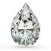 taglio diamante pear